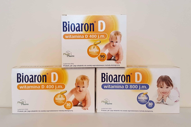 Bioaron D witamina D dla niemowląt idzieci, kapsułki twist-off, dawka 400 j.m., 800 j.m. Matka Aptekarka
