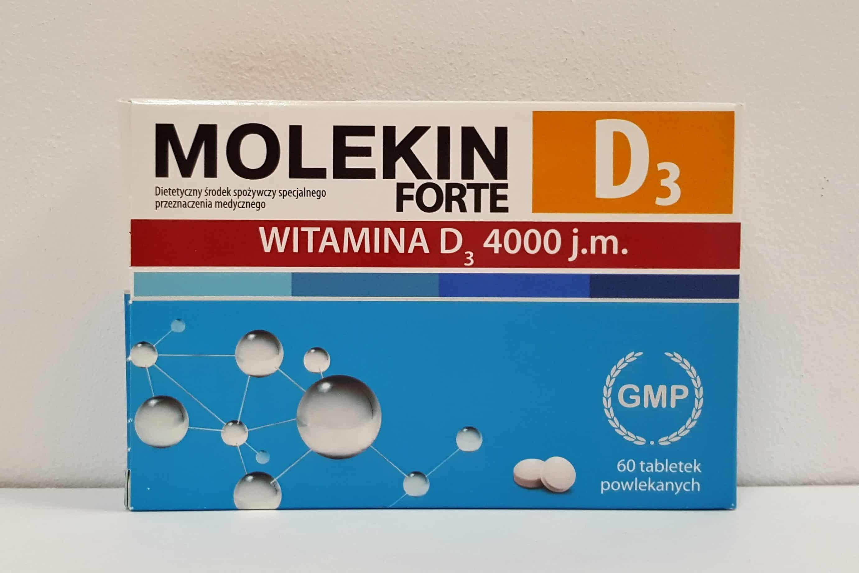 Molekin forte D3, witamina D 4000 j.m. tabletki dla dorosłych Matka Aptekarka