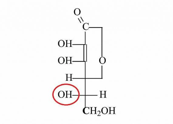 kwas L-askorbinowy (+) grupa -OH Matka Aptekarka