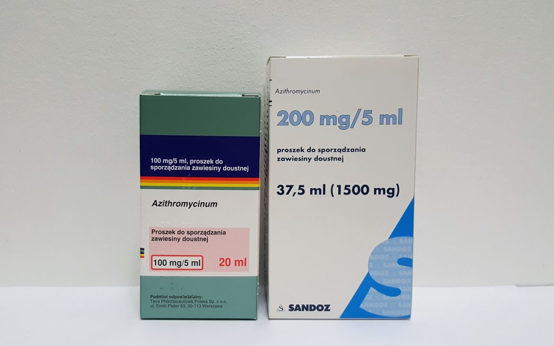 Azitromycin antybiotyk wzawiesinie Matka Aptekarka