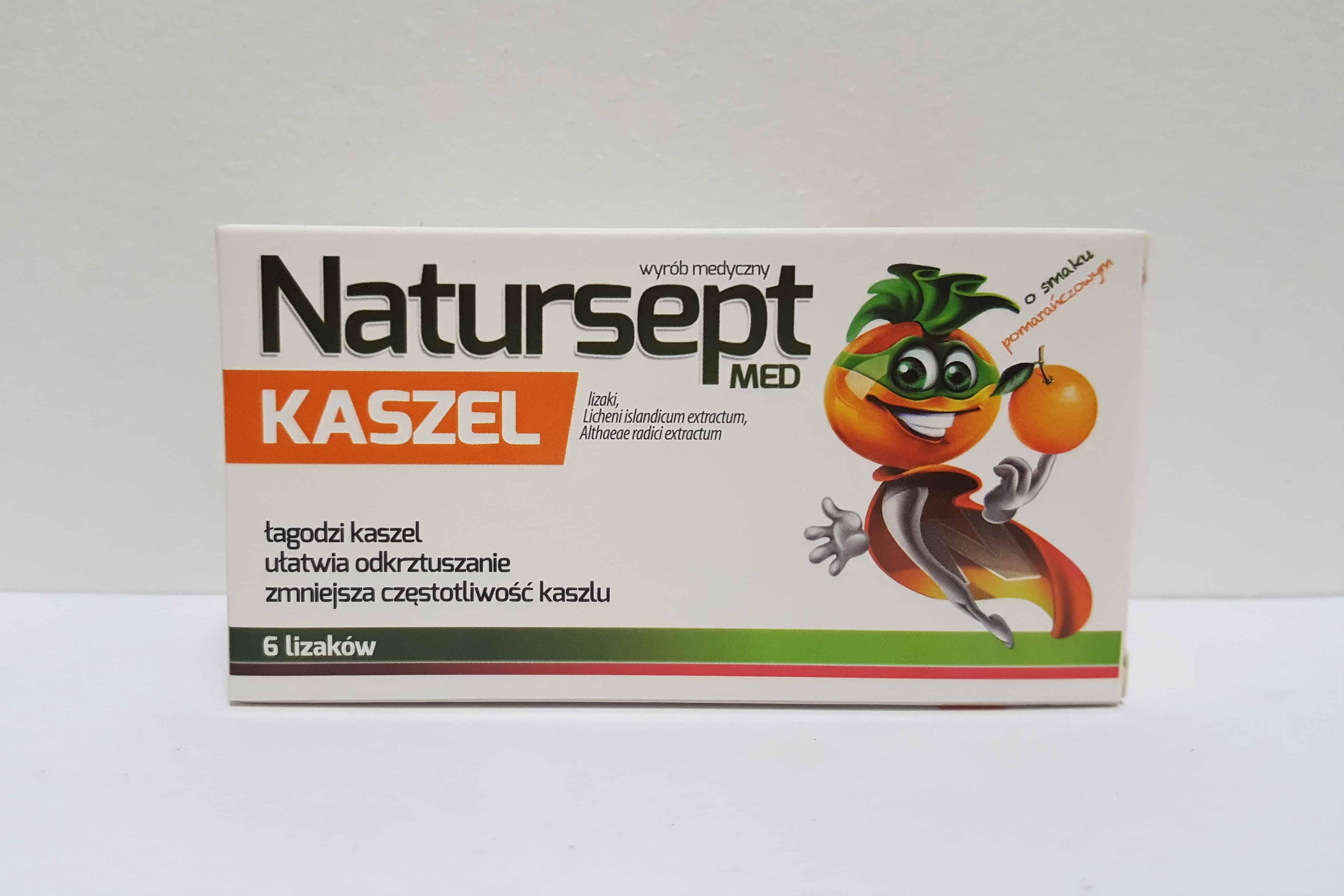 Natursept Med Kaszel lizaki wyrób medyczny Matka Aptekarka