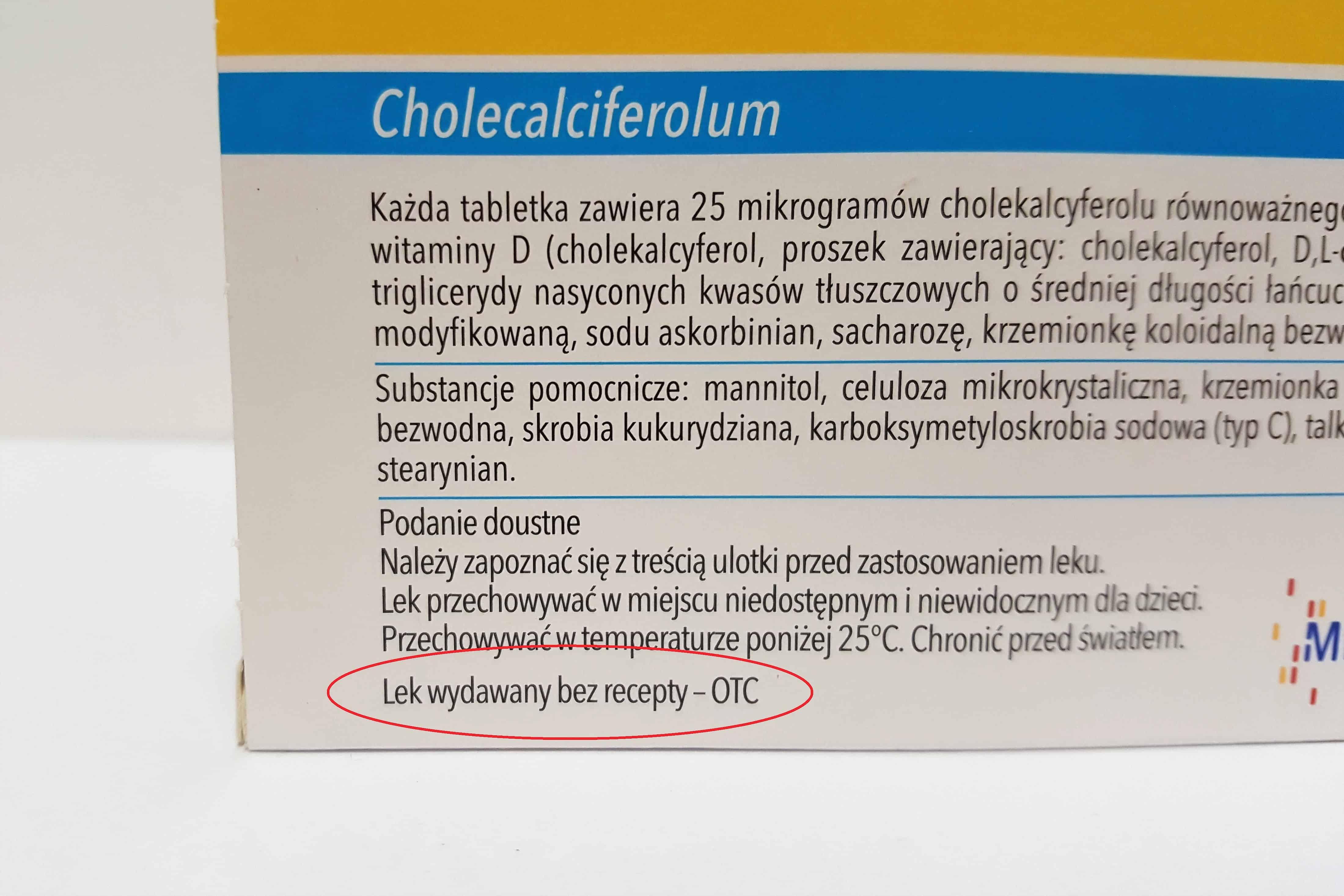 Vigantoletten lek wydawany bezrecepty - OTC Matka Aptekarka
