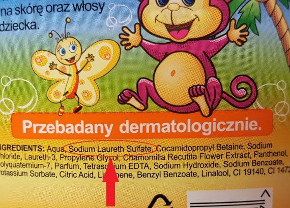 5. SLS w kosmetykach dla dzieci i niemowląt Matka Aptekarka