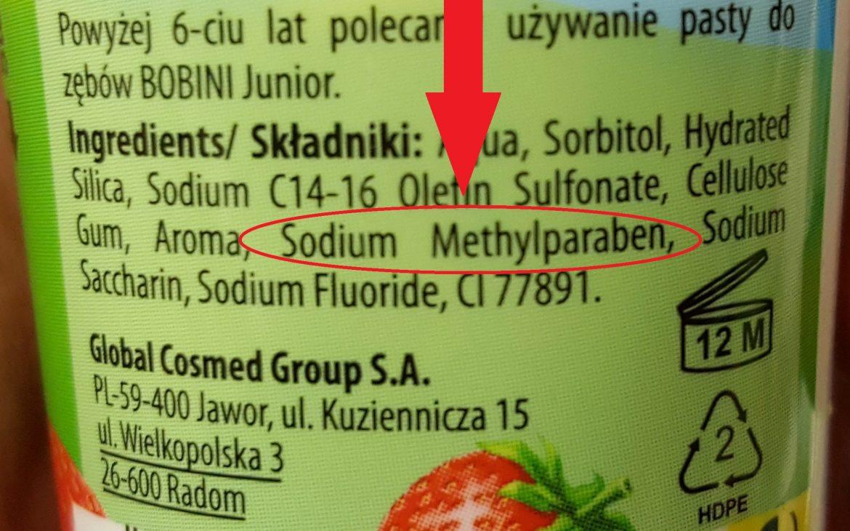 6. parabeny Sodium Methylparaben wkosmetykach dla dzieci iniemowląt Matka Aptekarka