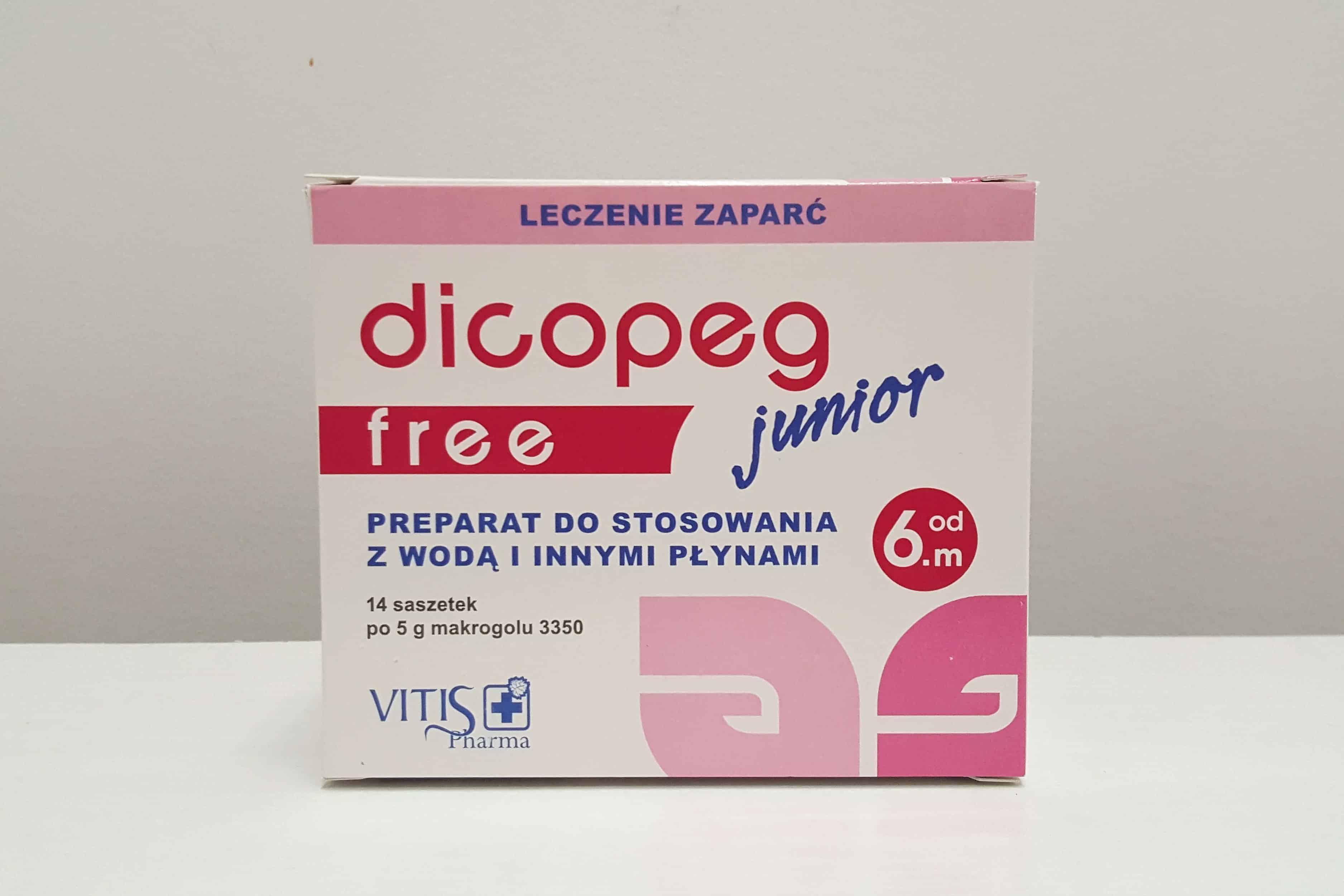 Dicopeg Junior Free saszetki nazaparcia Matka Aptekarka