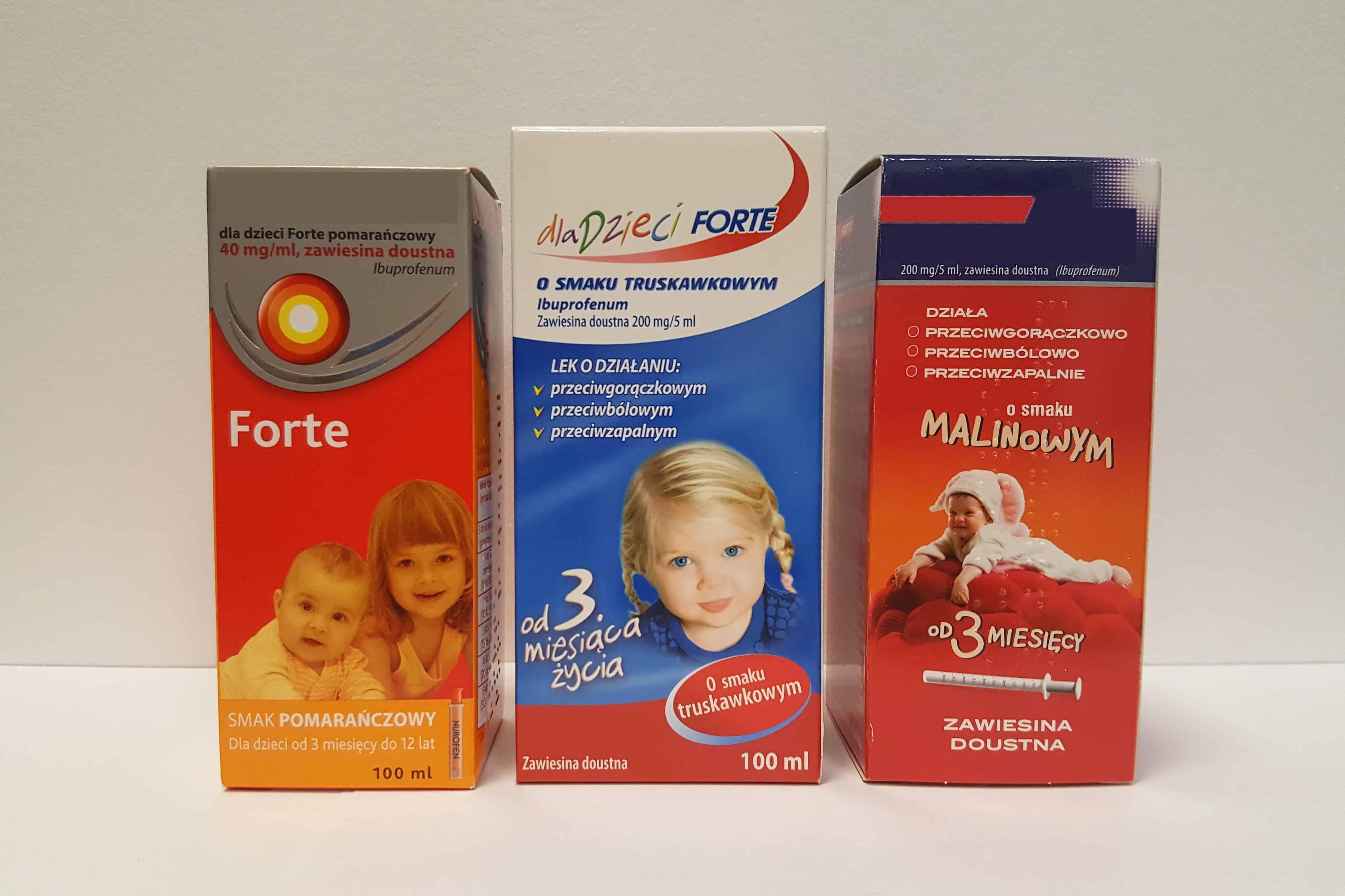Ibuprofen zawiesina dla niemowląt idzieci Matka Aptekarka