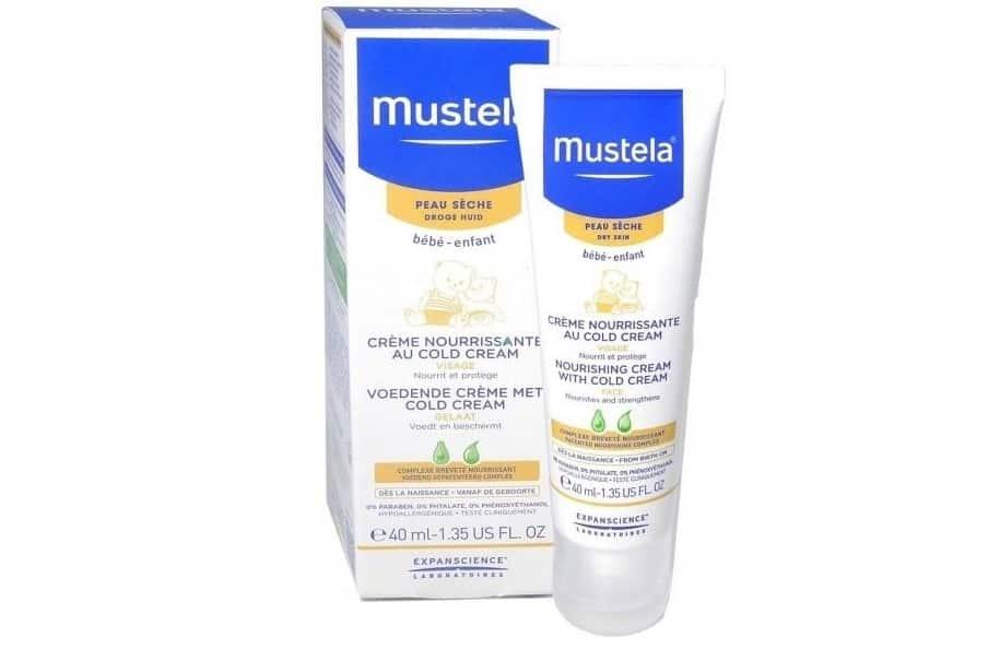 Mustela Bebe, Krem odżywczo-ochronny dotwarzy zcold cream, Matka Aptekarka