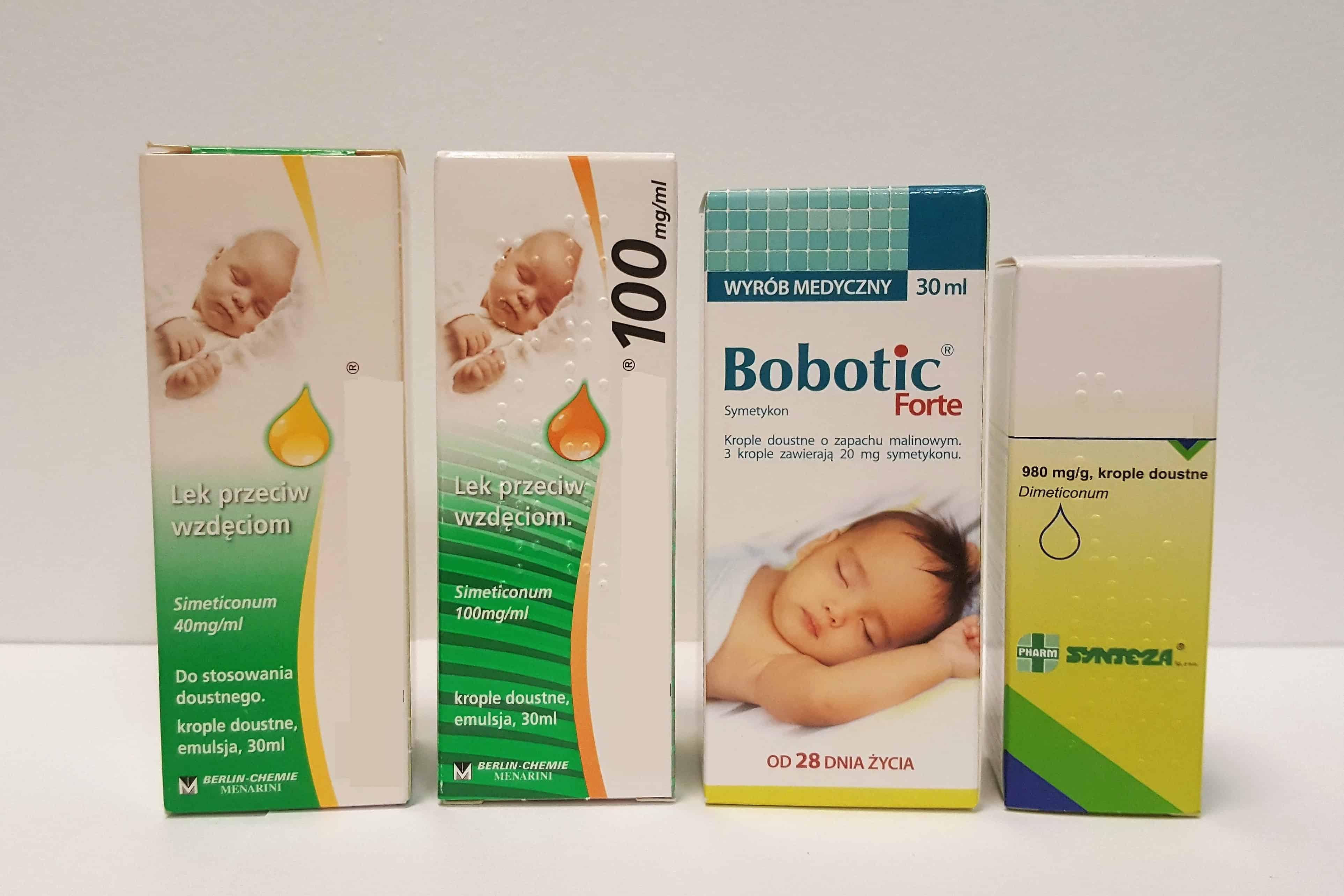 Kropelki nawzdęcia dla niemowląt idzieci Espumisan, Bobotic Forte, Esputicon Matka Aptekarka