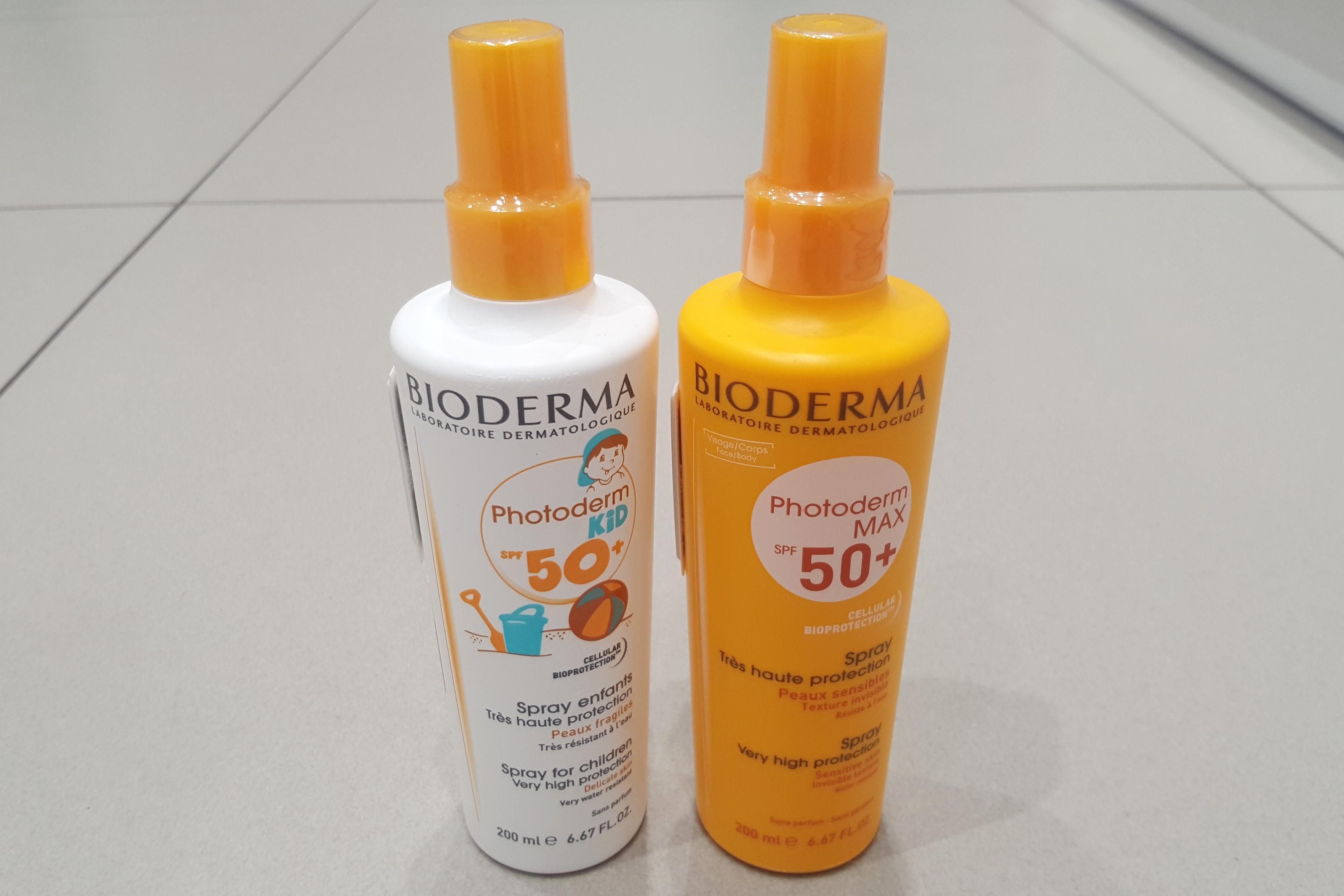 Bioderma Photoderm Kid 50+ iBioderma Photoderm Max50+, SPF 50+, spray przeciwsłoneczny dla dzieci idorosłych Matka Aptekarka