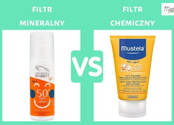 Filtr mineralny czy filtr chemiczny, mieszany, krem przeciwsłoneczny dla dzieci, Matka Aptekarka