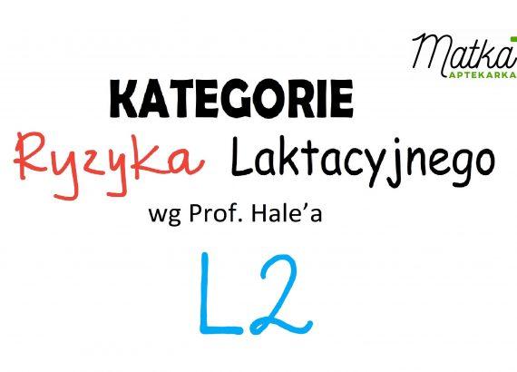 Kategorie Ryzyka Laktacyjnego L2 Matka Aptekarka