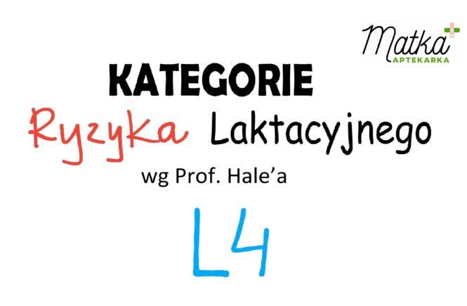 Kategorie Ryzyka Laktacyjnego L4 Matka Aptekarka