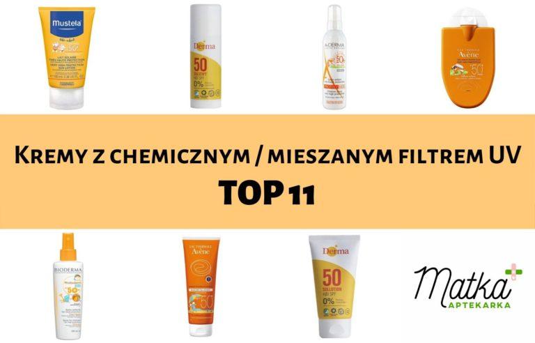 Kremy z chemicznym i mieszanym filtrem UV dla dzieci i niemowląt Matka Aptekarka blog