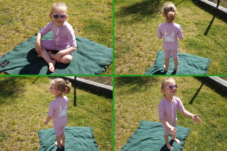 odzież UV, kombinezon zfiltrem UV, UV KIDS, odzież przeciwsłoneczna dla dzieci Matka Aptekarka