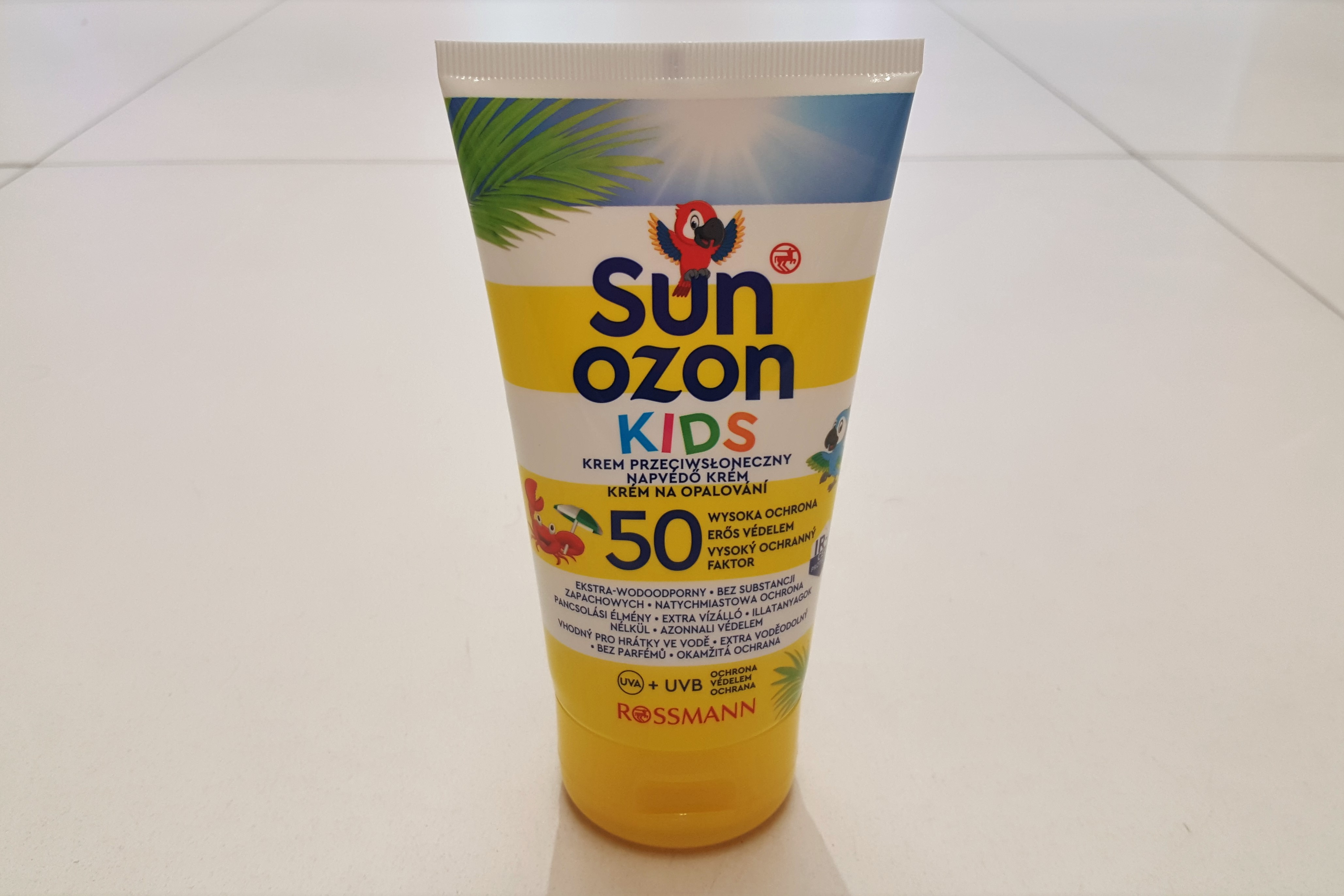 Sunozon Kids krem doopalania 50+, SPF 50+, filtry chemiczne, dla dzieci idorosłych Matka Aptekarka