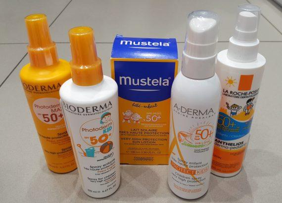 TOP Filtry chemiczne przeciwsłoneczne, Mustela, Bioderma, A-derma, La Roche Posay, krem, spray, mleczko, lotio SPF 50+ Matka Aptekarka