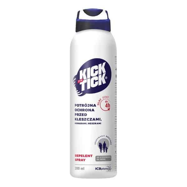 Kick the Tick MaxRepelent Plus, aerozol przeciw komarom, kleszczom, IR3535, ikarydyna, citriodiol, Matka Aptekarka