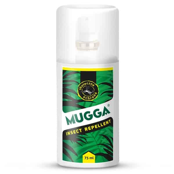 Mugga Insect Repellent, spray nakomary, kleszcze imuszki dla dzieci od2 lat, DEET 9,5%, Matka Aptekarka