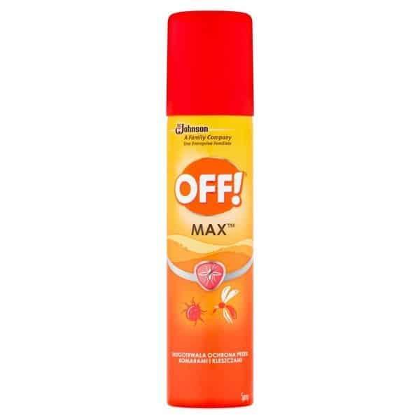 OFF! Maxrepelent przeciw komarom ikleszczom, aerozol, ikarydyna, Matka Aptekarka