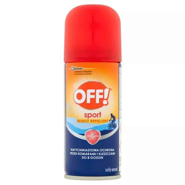 OFF! Sport, suchy spray odstraszający komary ikleszcze, DEET, Matka Aptekarka