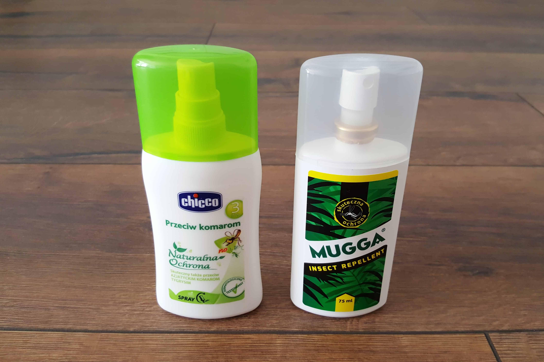 Preparat nakomary, spray nakomary, naturalny czyDEET, Chicco, Mugga Matka Aptekarka