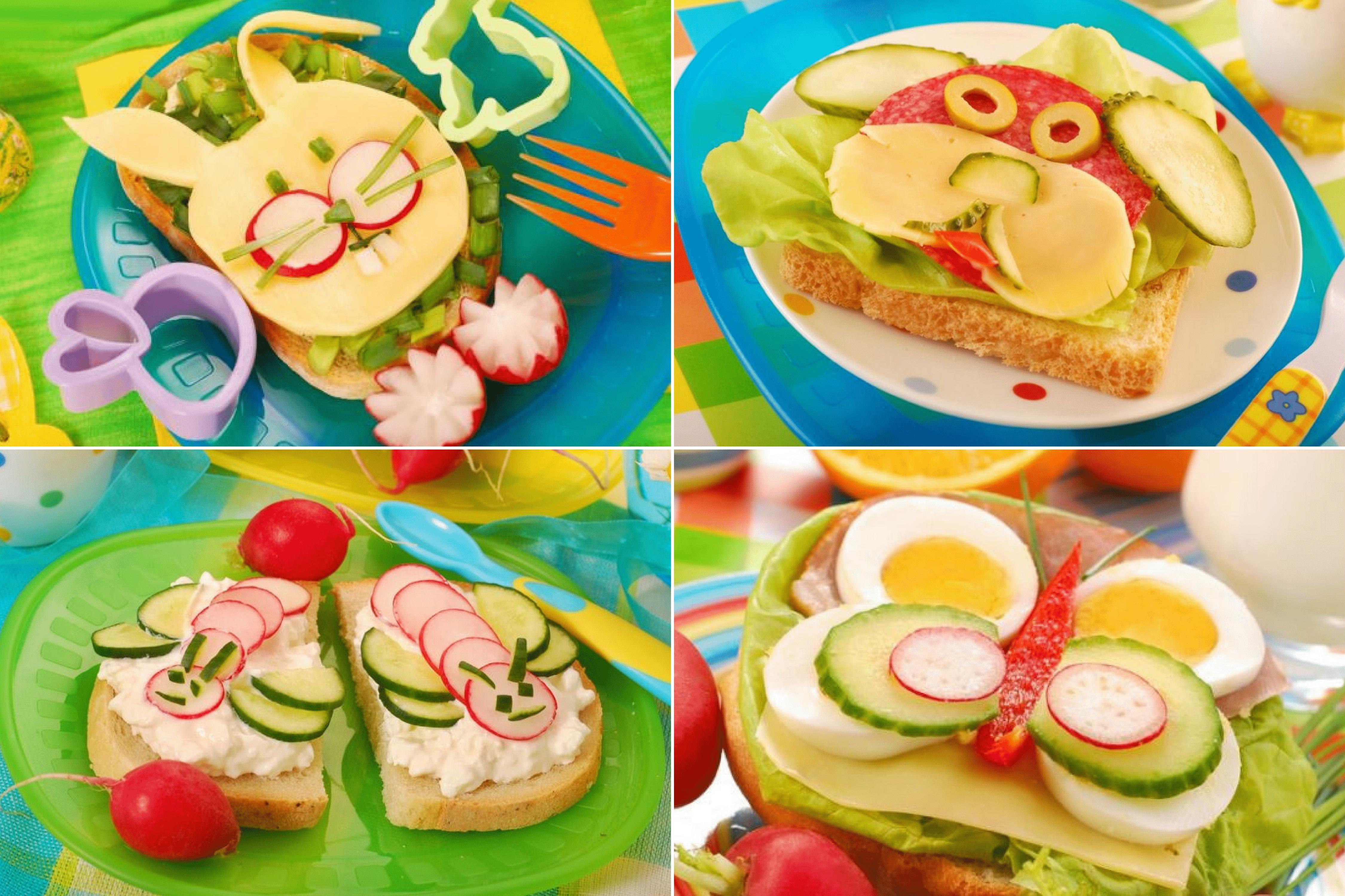 Kanapki dla dzieci, niejadki, jak zainteresować dziecko jedzeniem, ciekawe posiłki Matka Aptekarka