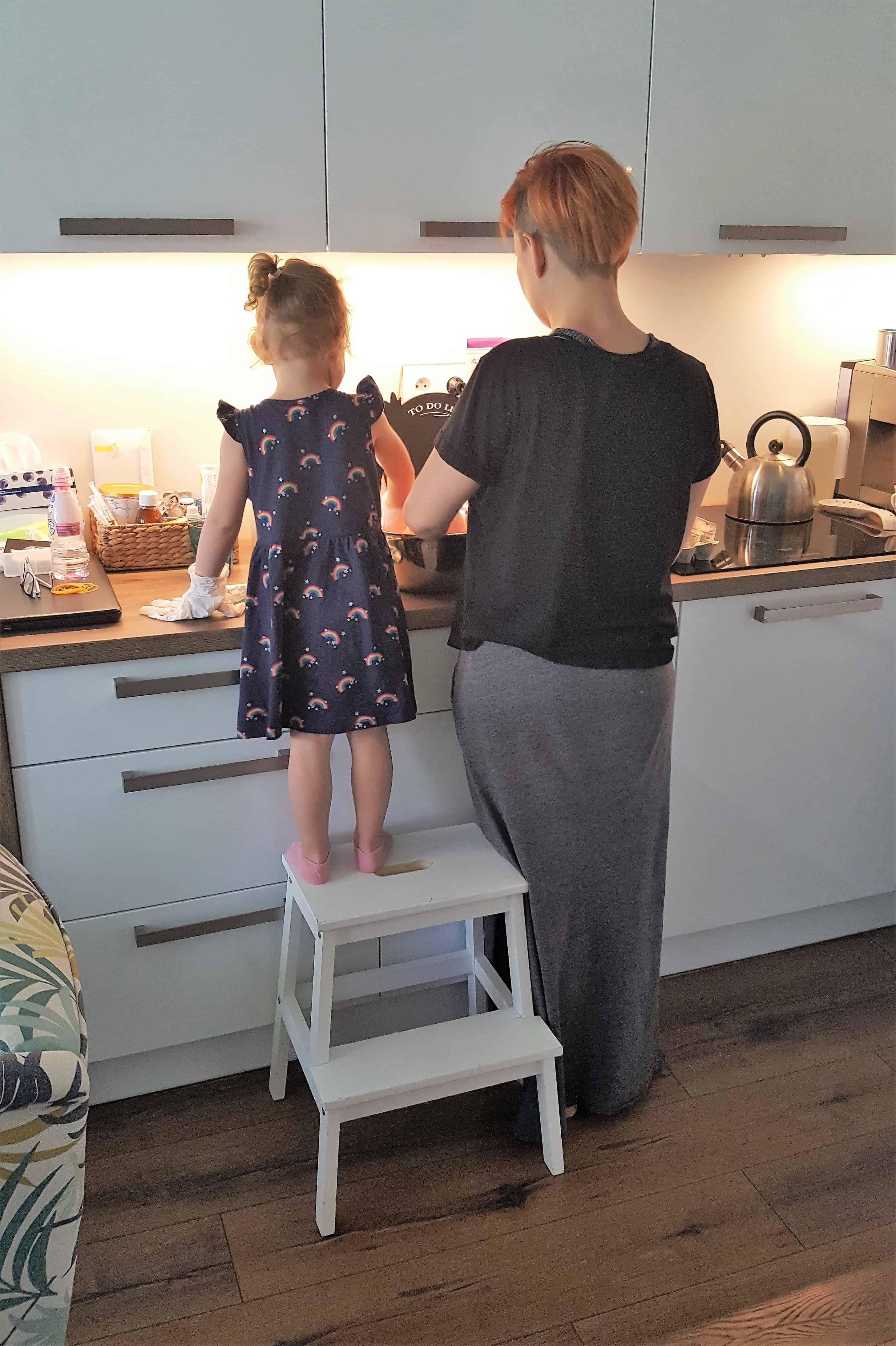 wspólne gotowanie, przygotowywanie posiłków, mama icórka, niejadek Matka Aptekarka