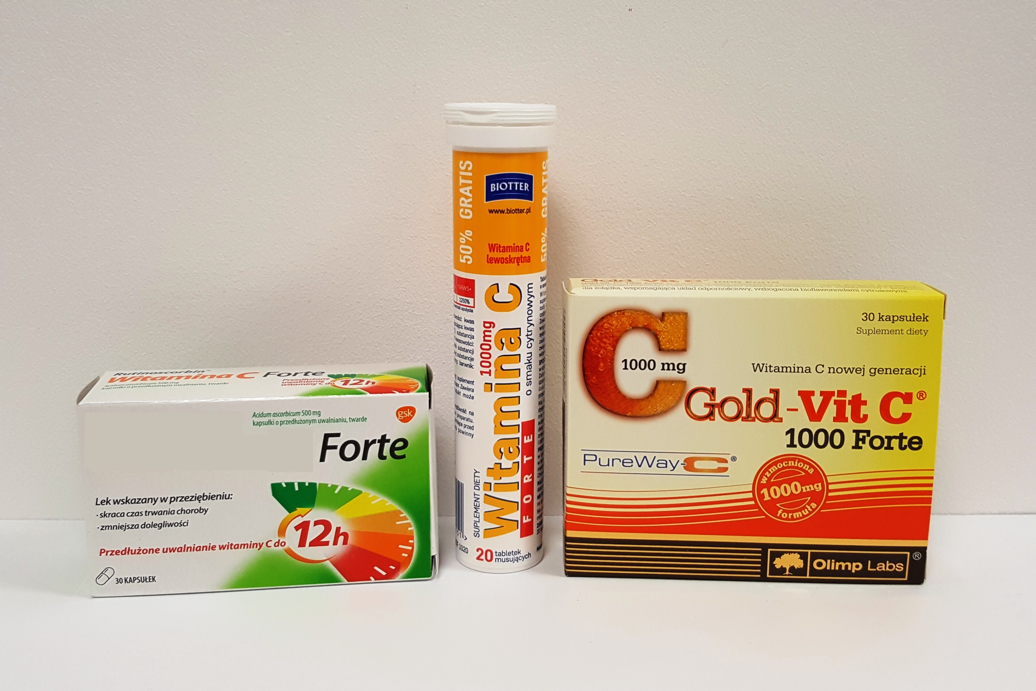 Witamina C 500-1000 mg, Rutinoscorbin Witamina C Forte Olimp Gold-Vit C 1000 Forte Matka Aptekarka