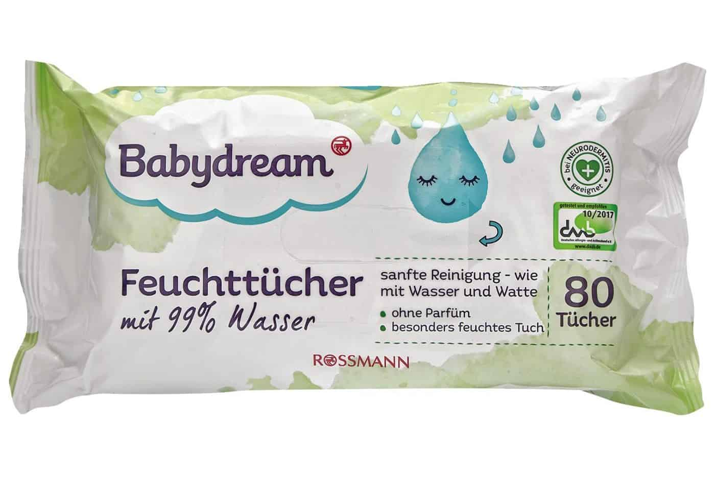 Babydream mit 99% Wasser, mokre chusteczki, chusteczki nawilżane, water wipes Matka Aptekarka