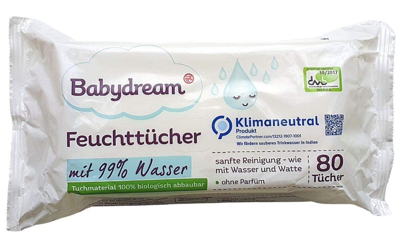 Babydream mit 99% Wasser, mokre chusteczki, chusteczki nawilżane, water wipes, new, nowe Matka Aptekarka
