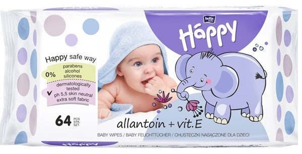 Bella Baby Happy zwitaminą E iallantoiną, chusteczki nawilżane Matka Aptekarka