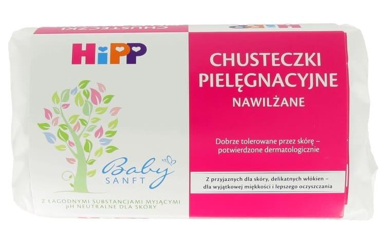 Hipp Babysanft chusteczki nawilżane różowe Matka Aptekarka