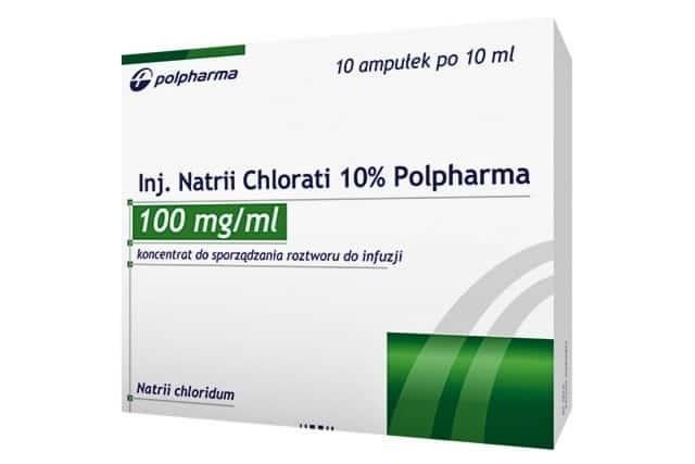 Natrium Chloratum 10% NaCl, sól doinhalacji idoinjekcji, Matka Aptekarka