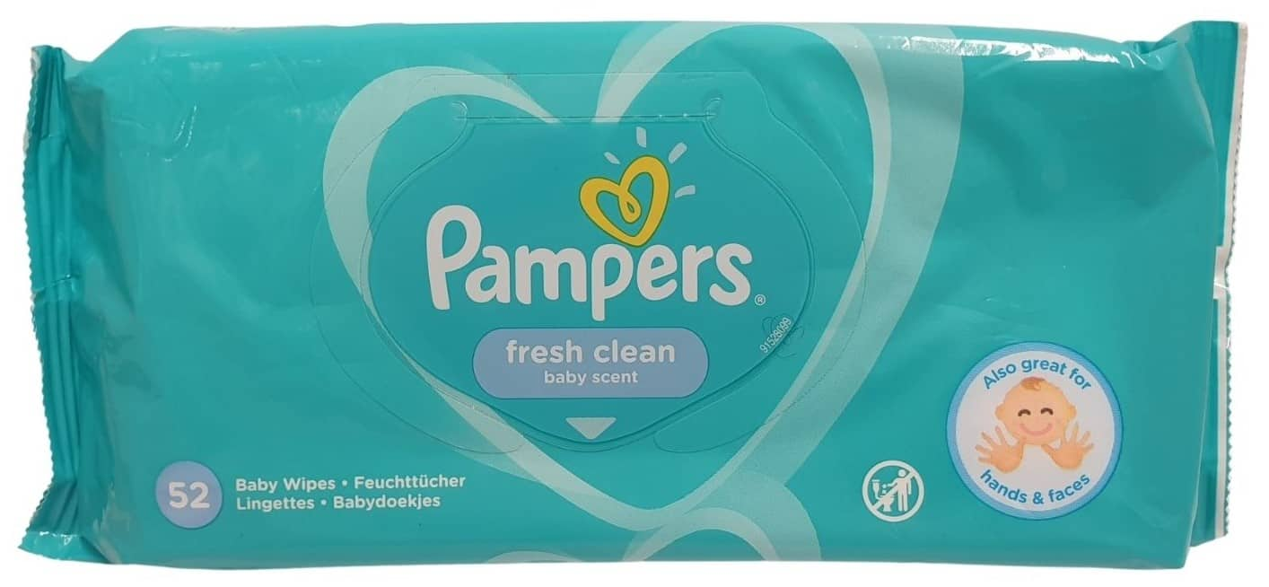 Pampers Fresh Clean, chusteczki nawilżane, Matka Aptekarka