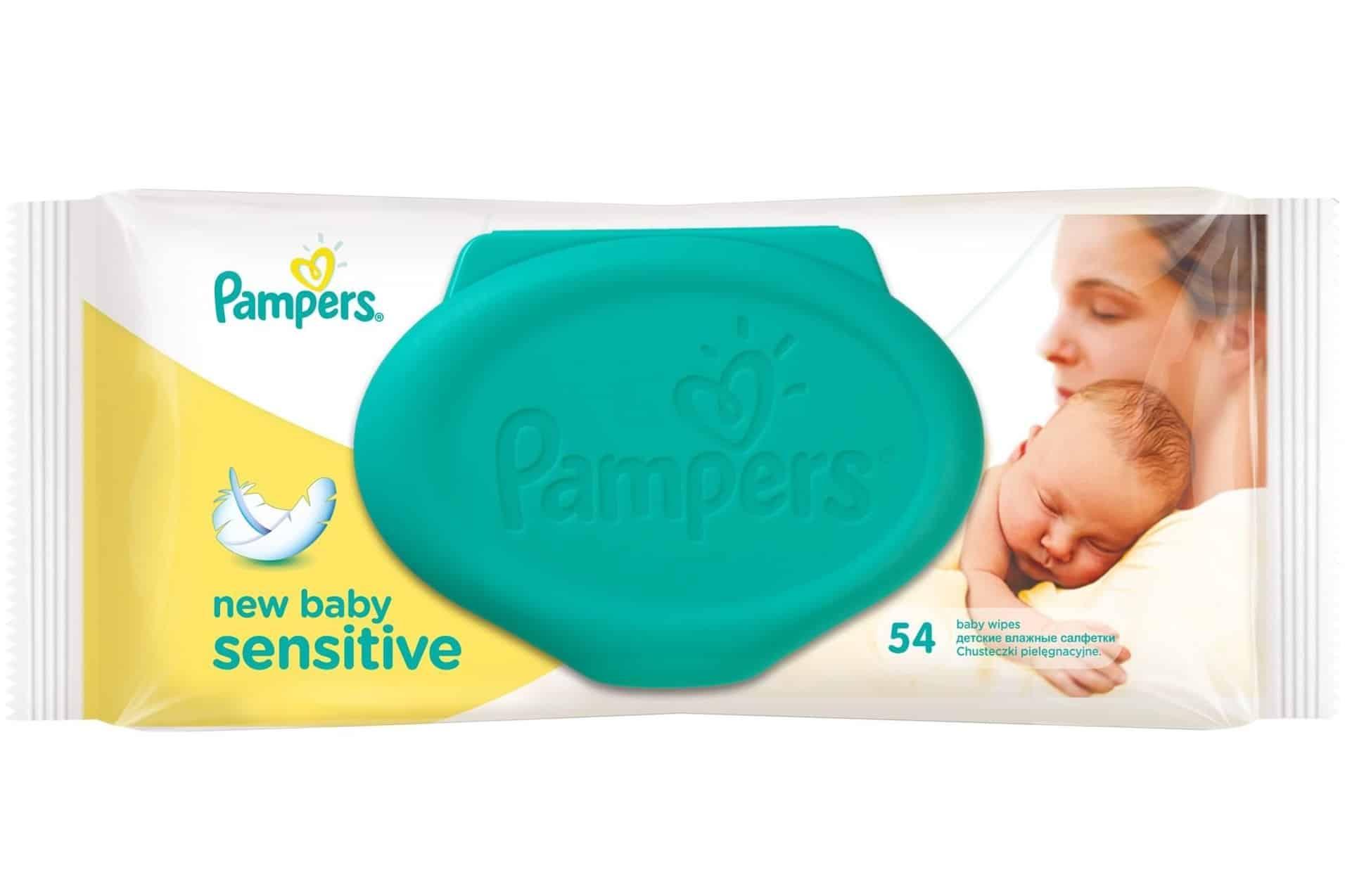 Pampers New Baby Sensitive, chusteczki nawilżane, Matka Aptekarka