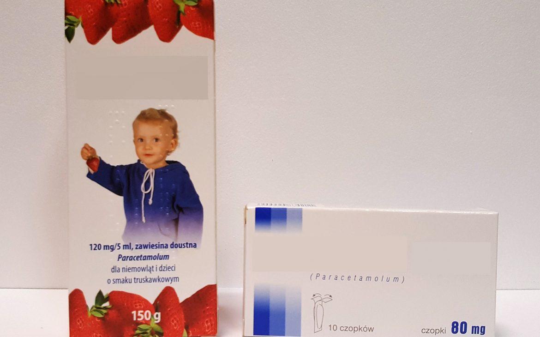 Paracetamol wpłynie, wsyropie, zawiesina iczopki dla niemowląt idzieci Matka Aptekarka