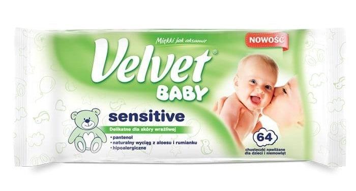 Velvet Baby Sensitive chusteczki nawilżane, chusteczki mokre Matka Aptekarka