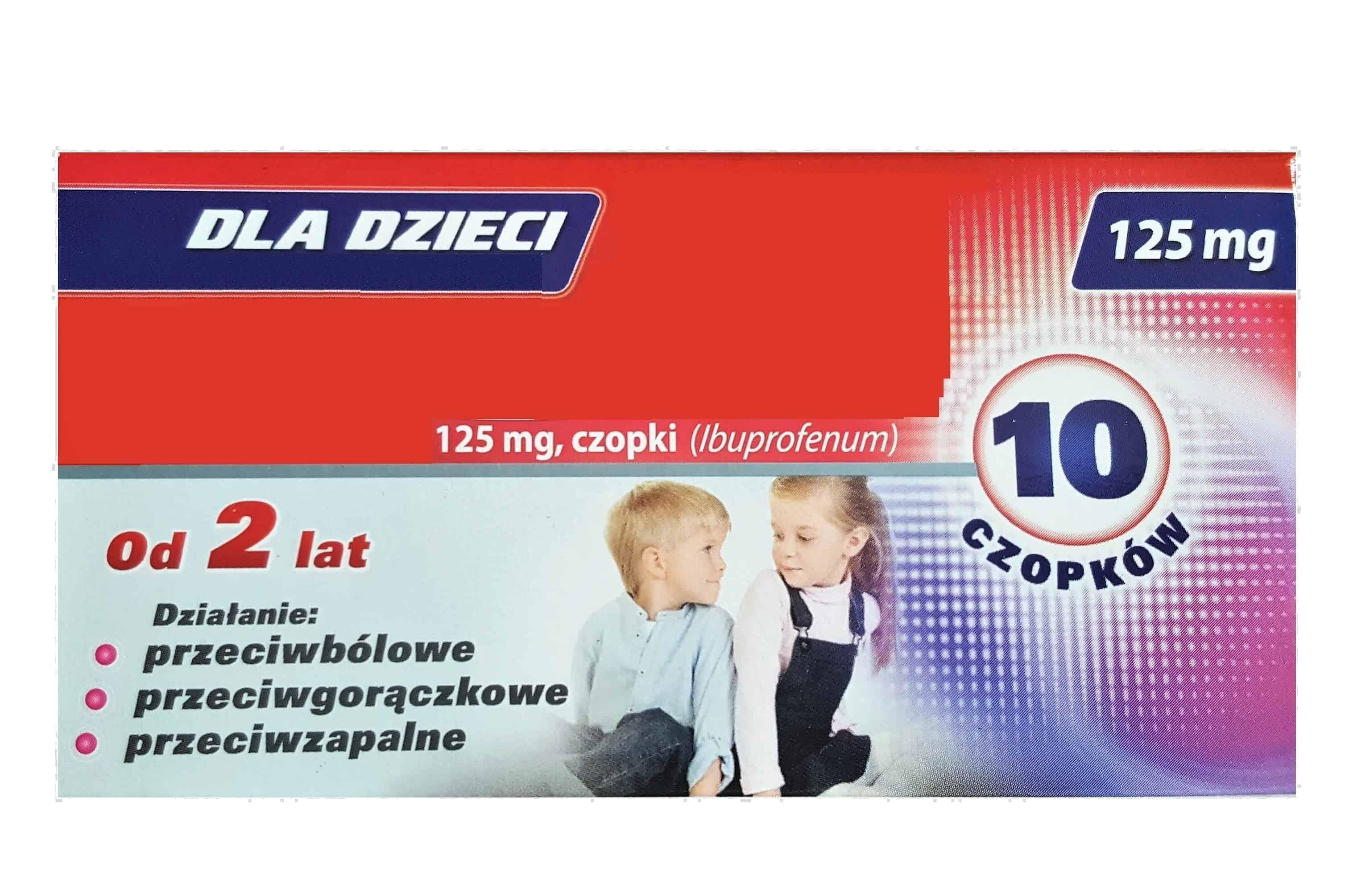 Ibuprofen czopki 60 mg, 125 mg, Ibum, Nurofen, Ibufen czopki Matka Aptekarka