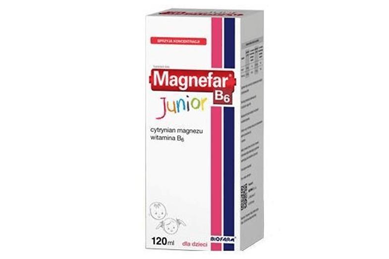 Magnefar B6 Junior, magnez wpłynie, magnez wsyropie dla dzieci, suplement diety Matka Aptekarka