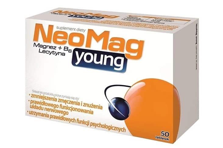 NeoMag Young, magnez dla dzieci od7.roku życia idorosłych, suplement diety, tabletki, Matka Aptekarka