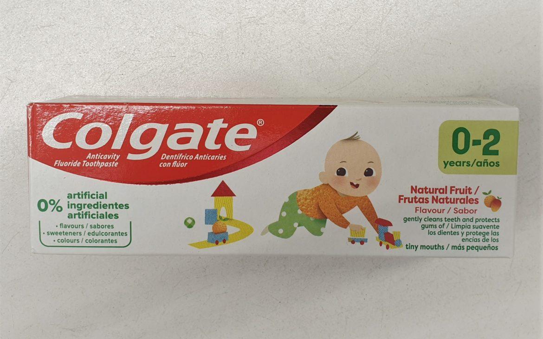 Colgate 0-2 lat, pasta dozębów zfluorem, 1000 ppm, nowa wersja, Matka Aptekarka