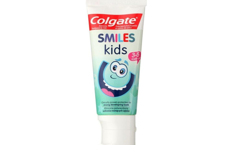 Colgate Smiles Kids 3-5 lat, pasta dozębów zfluorem, 1000 ppm, Matka Aptekarka