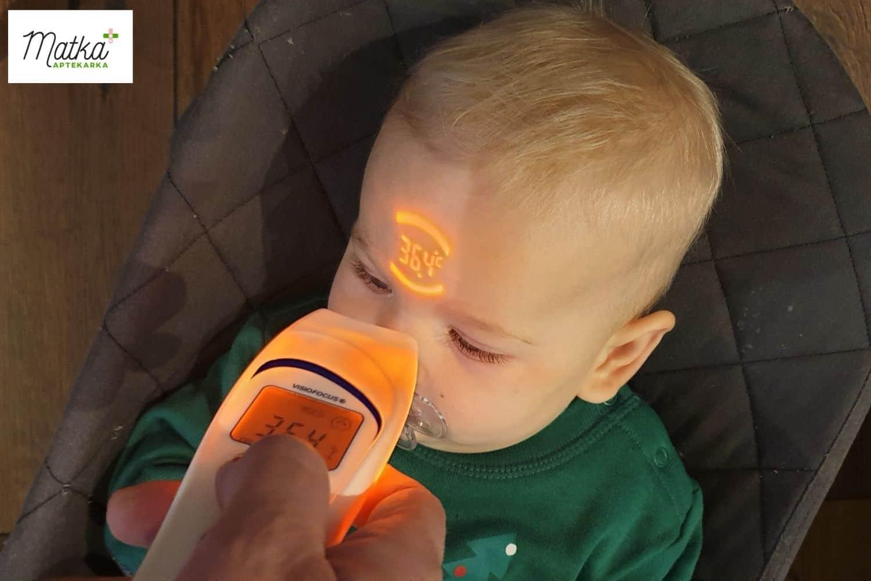 Termometr bezdotykowy Visiofocus 06400, jak wybrać termometr dla dziecka, najlepszy termometr dla małego dziecka Matka Aptekarka (5)