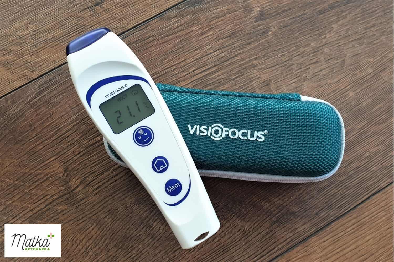Termometr bezdotykowy Visiofocus 06400, jak wybrać termometr dla dziecka, najlepszy termometr dla małego dziecka Matka Aptekarka