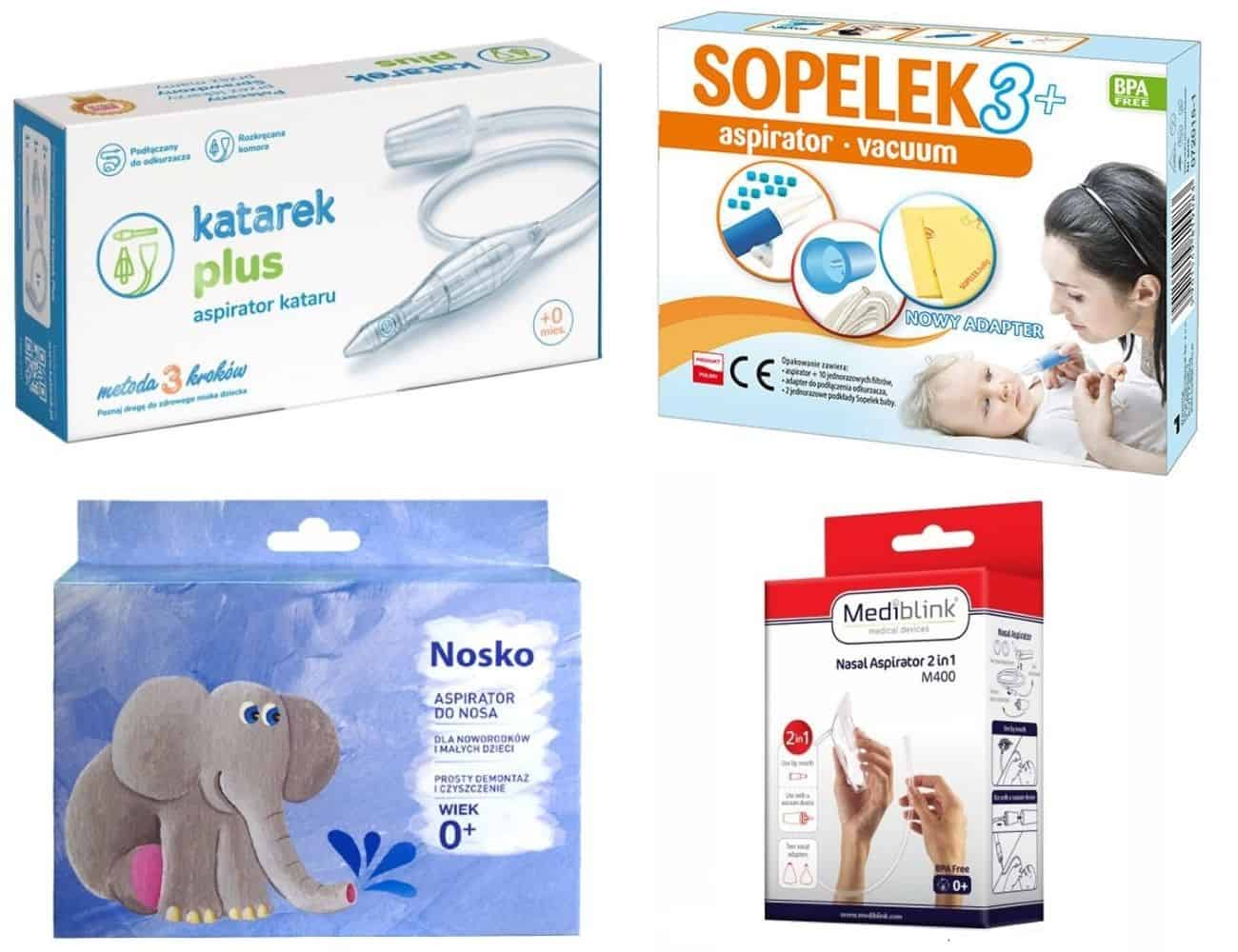 Aspirator donosa doodkurzacza dla niemowląt idzieci, Katarek, Nosko, Sopelek 3, Matka Aptekarka