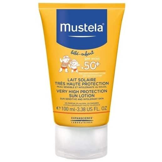Mustela Bebe-Enfant Sun, mleczko przeciwsłoneczneSPF 50+, Matka Aptekarka