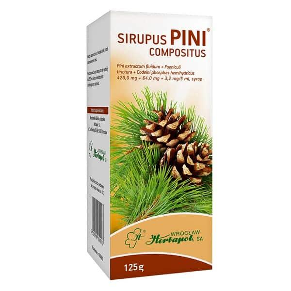 Sirupus Pini compositus, syrop sosnowy zkodeiną, syrop przeciwkaszlowy, Matka Aptekarka