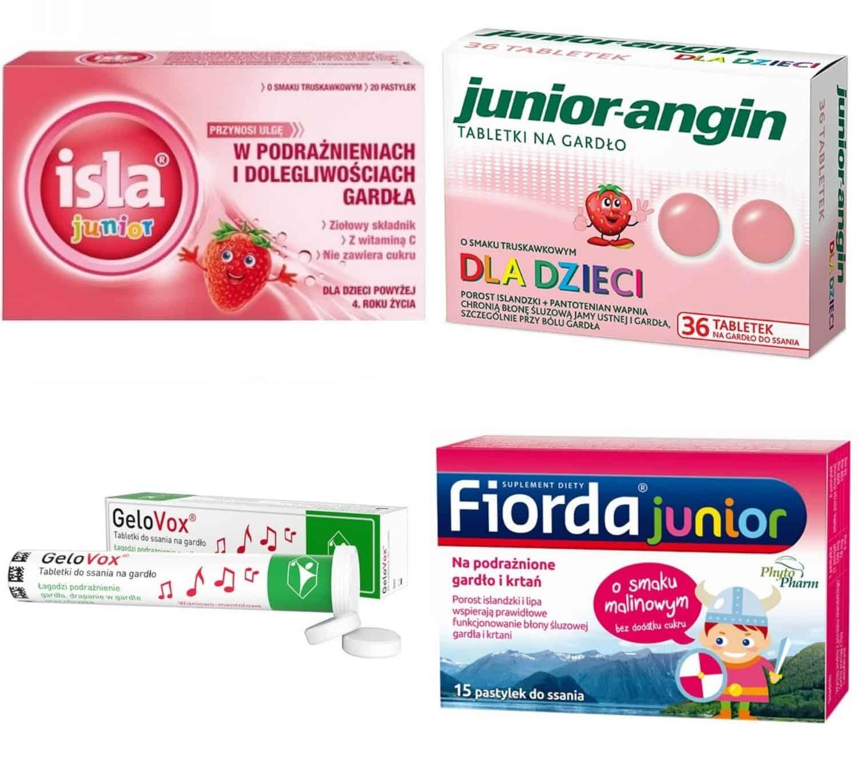 Tabletki dossania nawilżające dla dzieci, nasuche gardło, przeciwkaszlowe, Matka Aptekarka