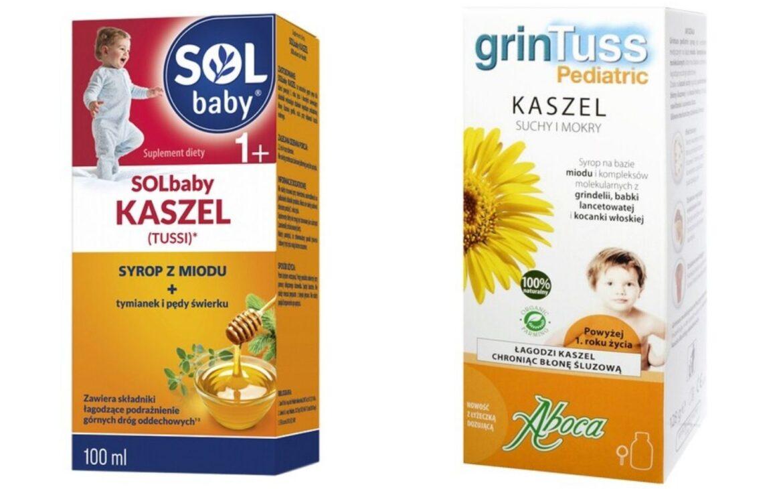 syrop dla dzieci zmiodem, nakaszel, nasuche gardło, Solbaby Kaszel, GrinTuss Pediatric, Matka Aptekarka
