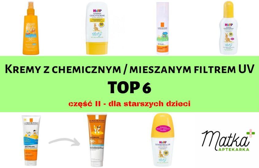 Kremy zchemicznym / mieszanym filtrem UV dla starszych dzieci Matka Aptekarka blog